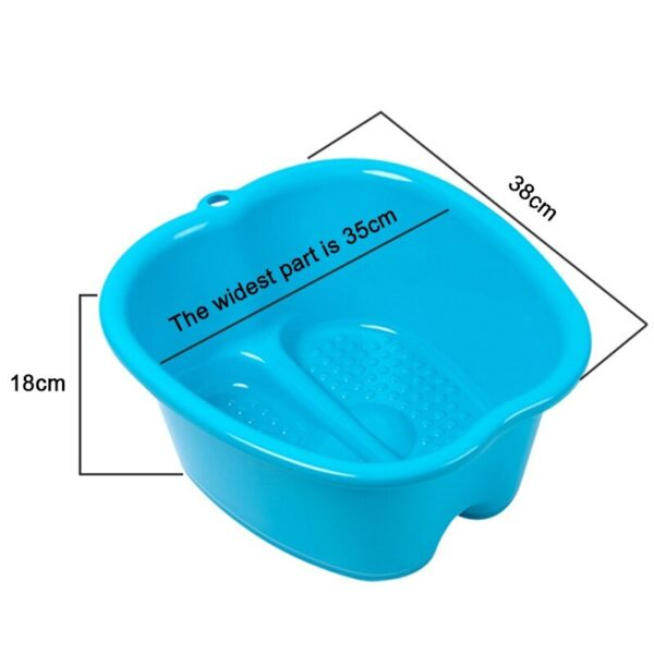 Large Thick Foot Plastic Bath Spa Bowl for Pedicure, Detox and Massage, Perfect to Soak Your Feet, Toe Nails and Ankles
