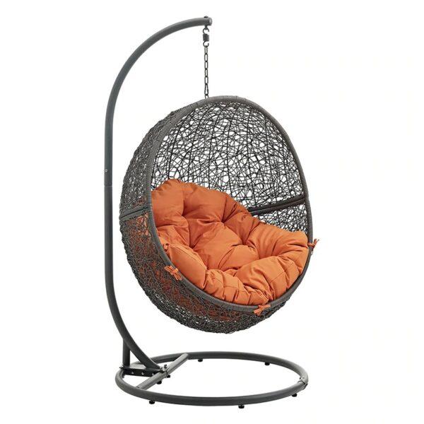 Seat Cushion Egg Chair Garden Swing Chair Basket Seat Cushion Hanging Silk Core Cotton Polyester Cushion Outdoor Furniture