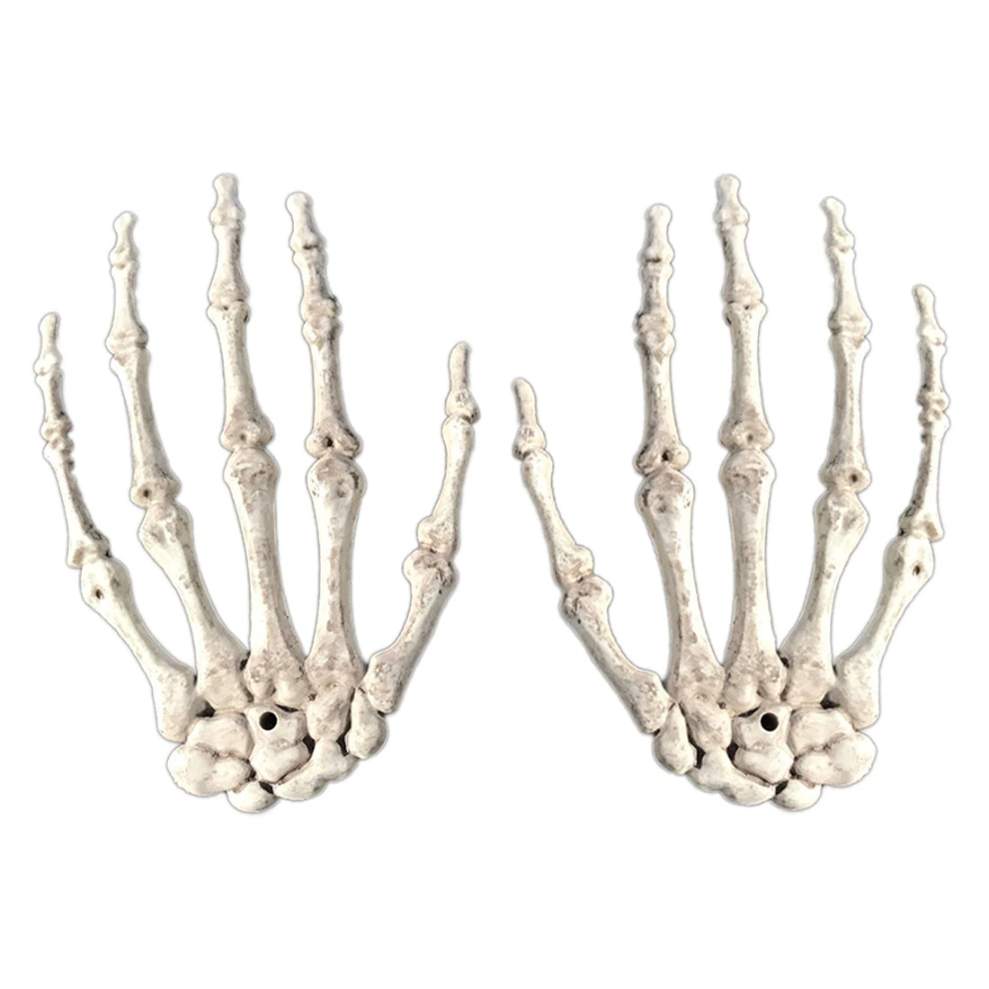 1 Pair Halloween Decoration Realistic Life Size Skeleton Hands Plastic Fake Human Hand Bone Zombie Party Terror Scary Props