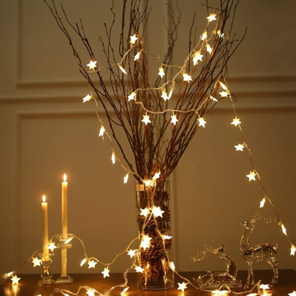 Twinkle Star 100 LEDS 49 FT Star String Lights Plug in Fairy String Lights Extendable for Indoor Outdoor